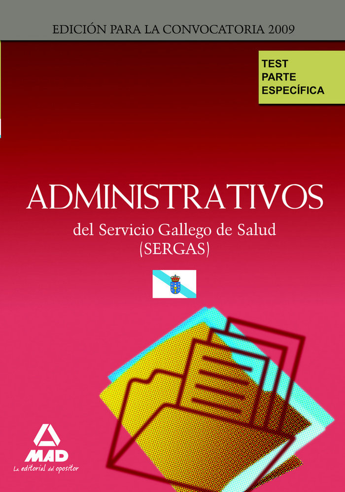 Administrativos, servicio gallego de salud (sergas). test pa