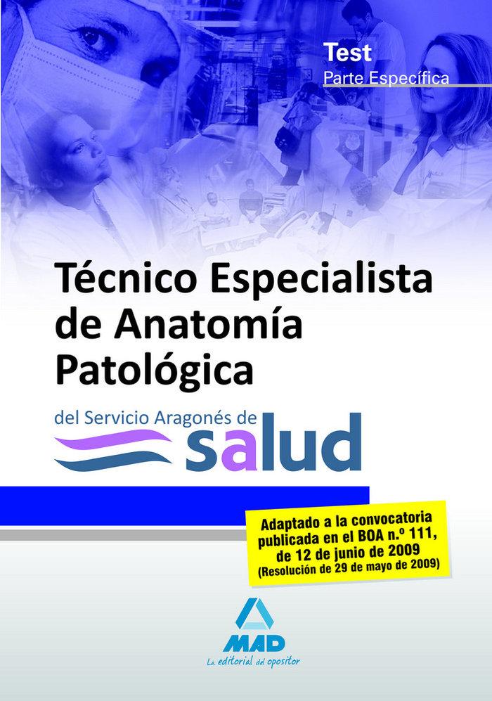 Tecnicos especialistas de anatomia patologica, servicio arag