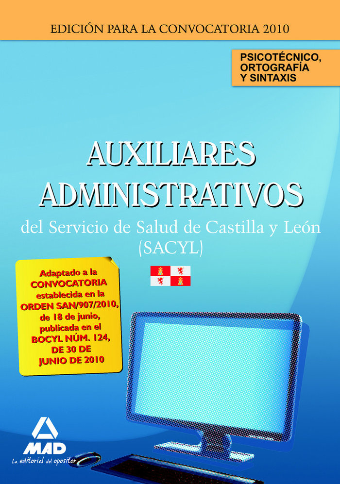 Auxiliares administrativos, servicio de salud de castilla y