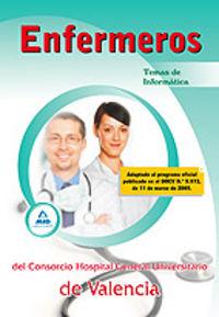 Enfermeros, consorcio hospital general universitario de vale