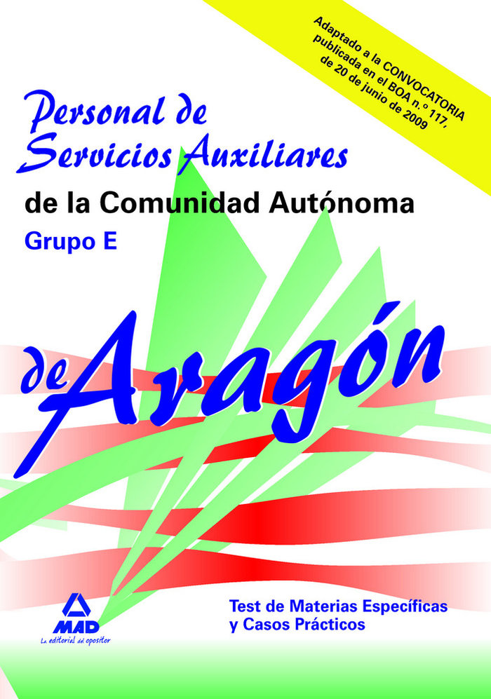 Personal de servicios auxiliares, grupo e, comunidad autonom