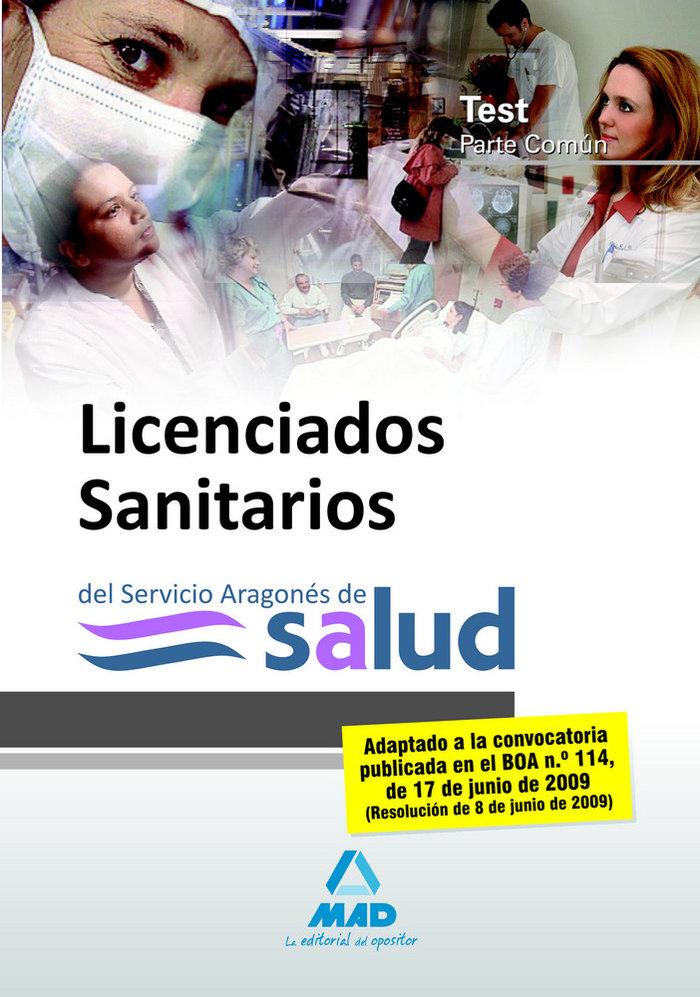 Licenciados sanitarios, servicio aragones de salud. test par