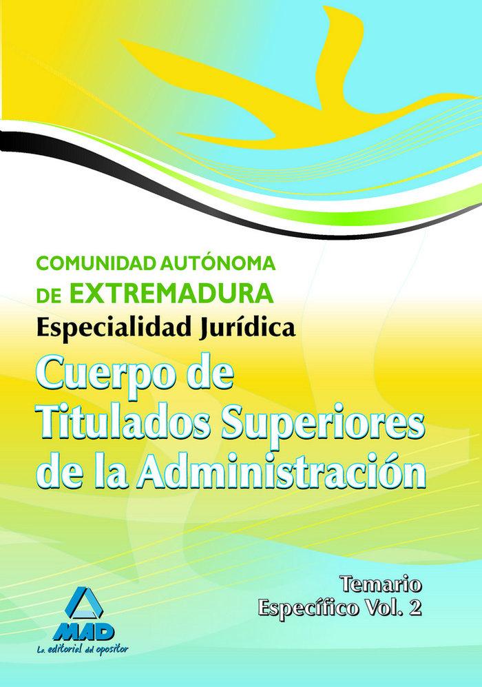 Cuerpo titul.super.adm.ii extrema/tem.espec/esp.juridica