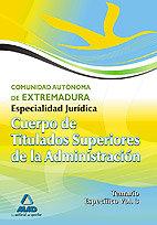 Cuerpo titul.super.adm extremadura es.juridica iii