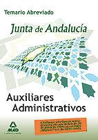 Auxiliares administrativos junta andal temario abreviado