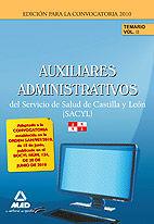 Auxiliares administrativos del servicio de salud de castilla