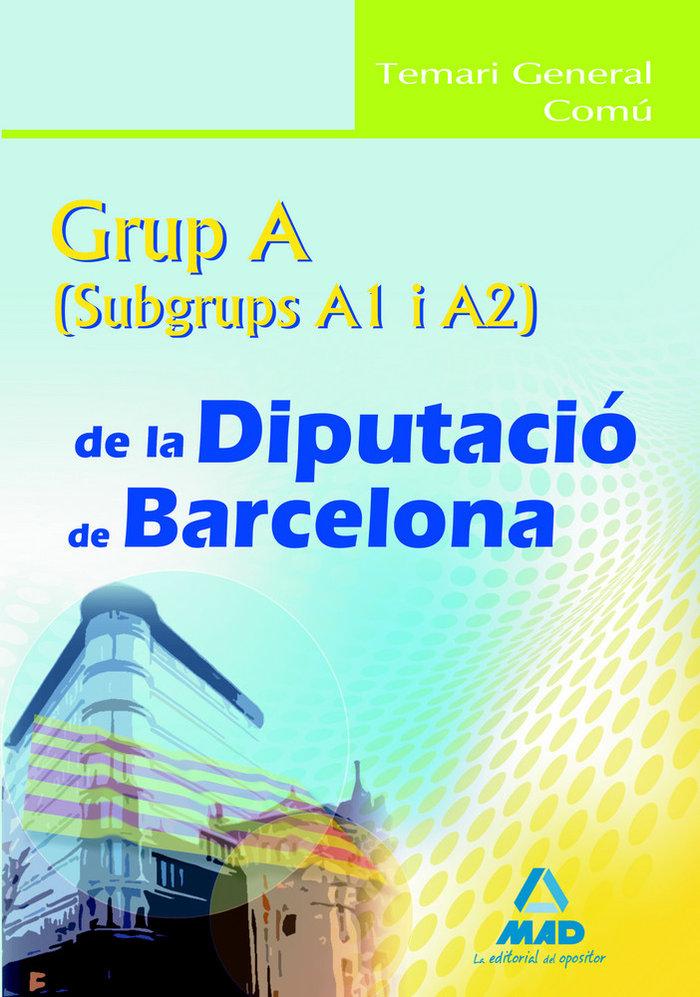 Grup a (a1 y a2), diputacio de barcelona. temari general com