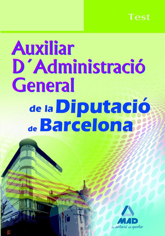 Auxiliar d'administracio general, diputacion de barcelona. t