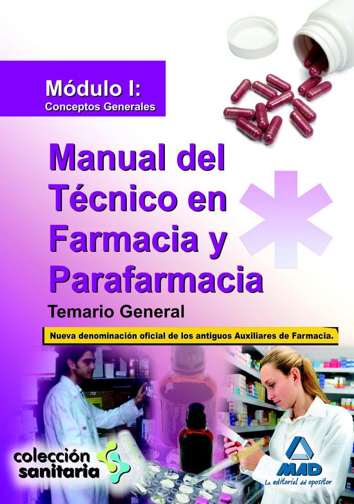 Manual tecnico farmacia y parafarmacia modulo i temario gene