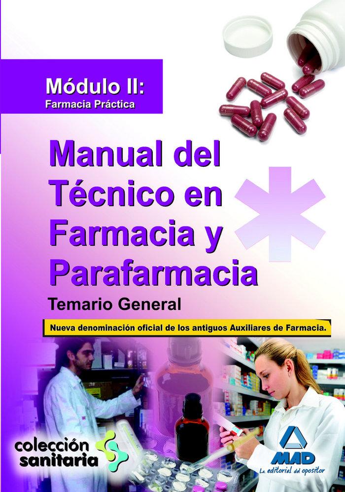 Manual tecnico farmacia y parafarmacia modulo ii temario gen