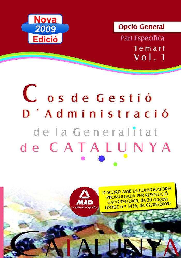 Cos de gestio d¿administracio de la generalitat de catalunya