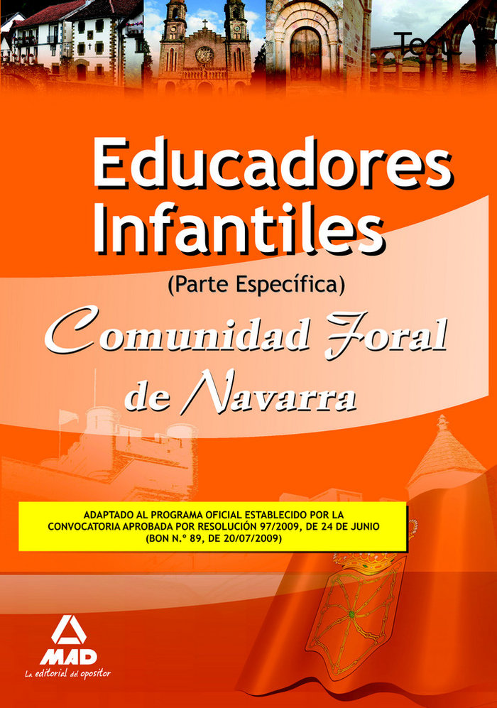 Educadores infantiles, comunidad foral de navarra. test part