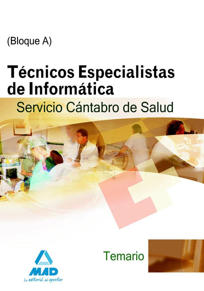 Tecnicos especialistas de informatica, servicio cantabro de