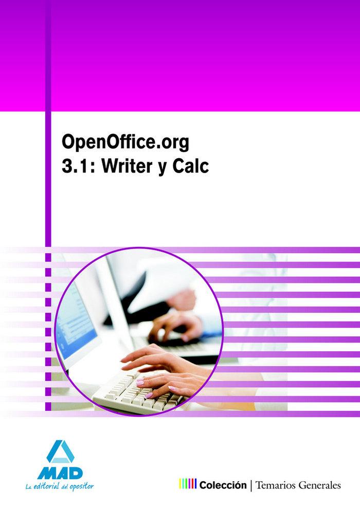 Openoffice.org 3.1 writer y calc