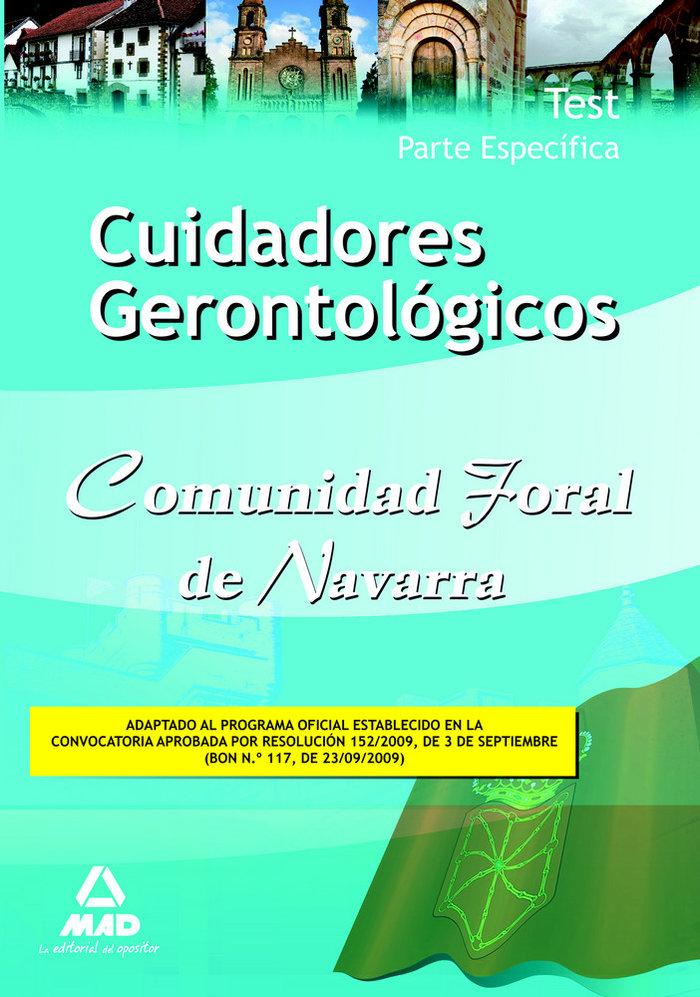 Cuidadores gerontologicos, comunidad foral de navarra. test