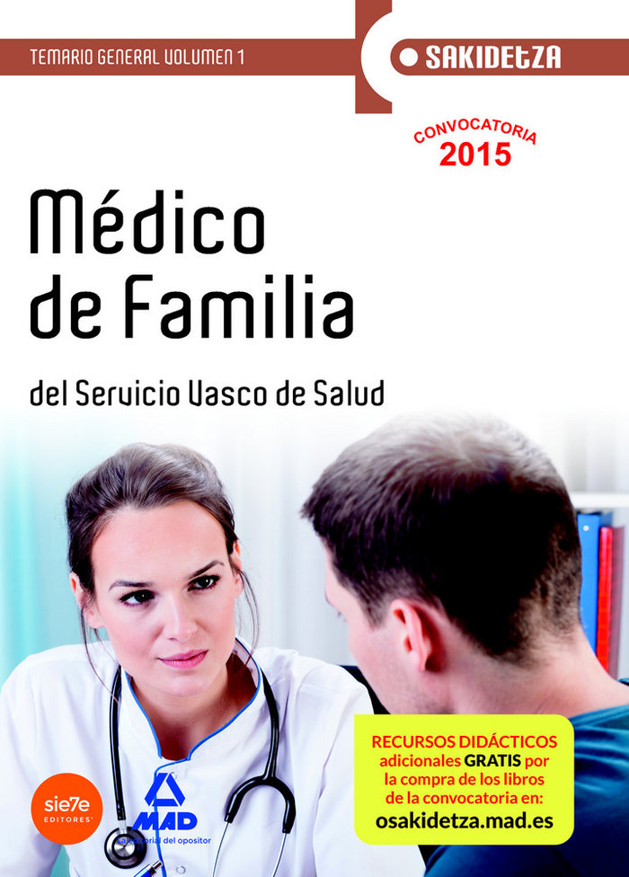 Medico de familia de osakidetza-servicio vasco de salud. tem
