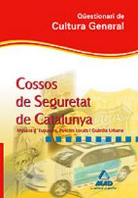 Cossos de seguretat, guardia urbana i mossos d'esquadra, cat