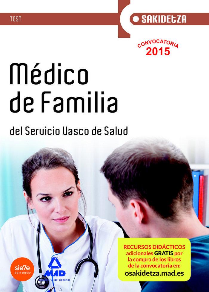 Medico de familia de osakidetza-servicio vasco de salud. tes