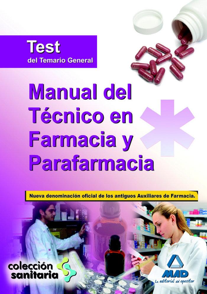 Manual tecnico en farmacia y parafarmacia test temario gener