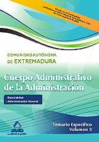 Administrativos admini.general extremadu.t iii especifico