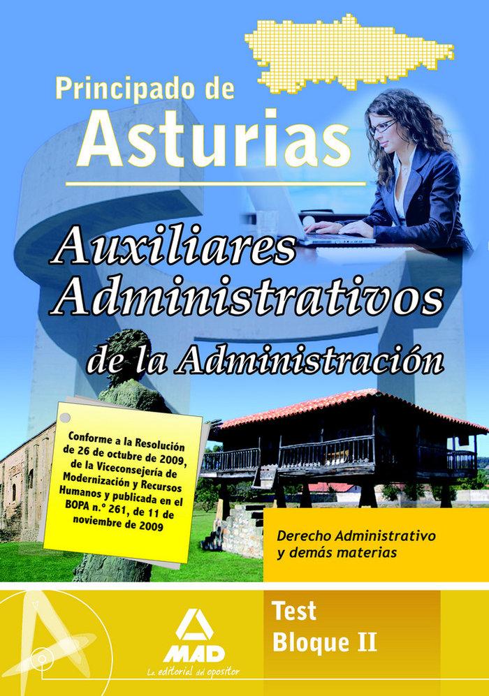 Auxiliares administrativos, administracion del principado de