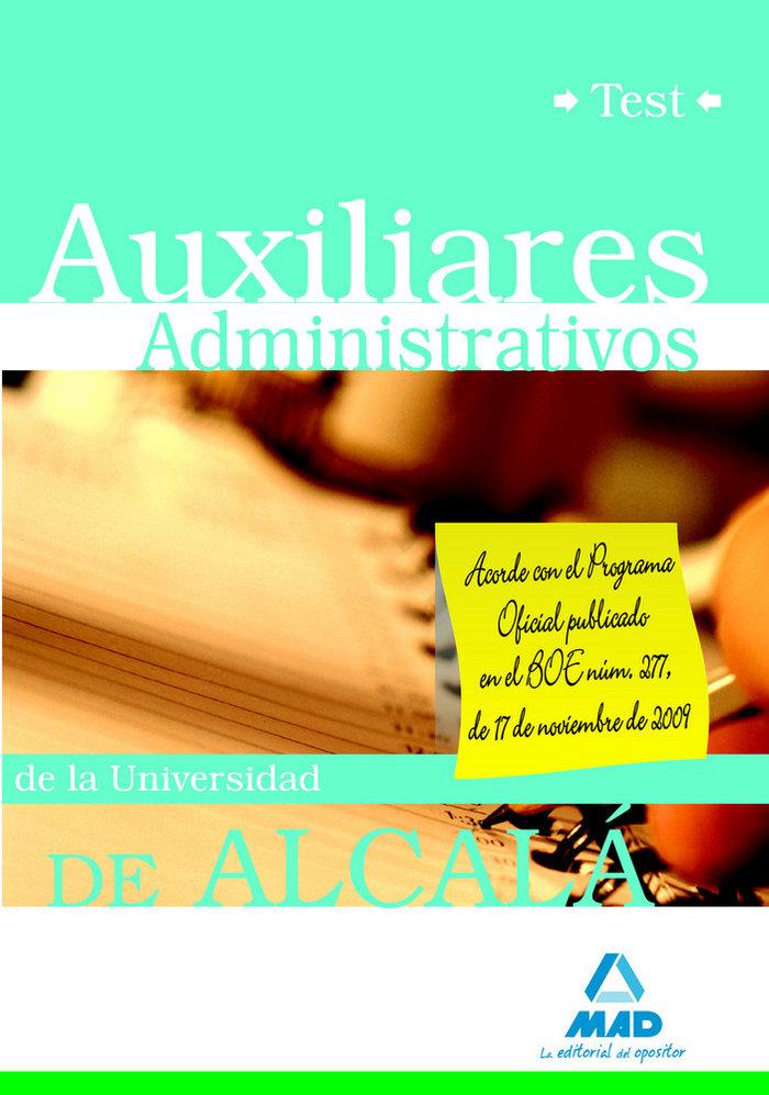 Auxiliares administrativos, universidad de alcala. test