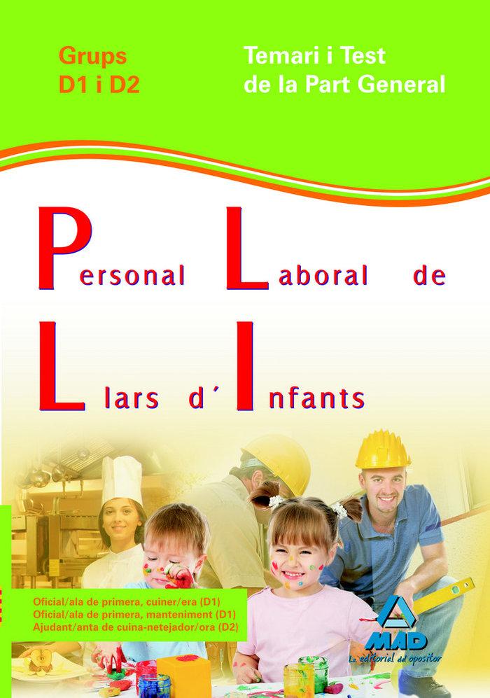 Personal laboral de llars d'infants, grups d1 i d2, generali