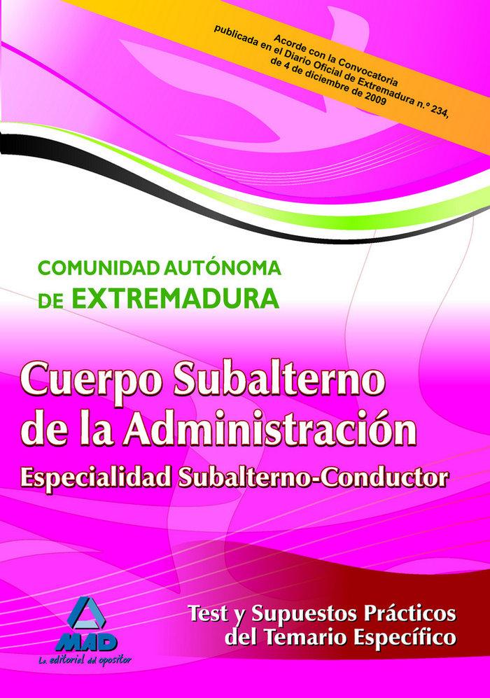 Subalterno (espe. subal.condu)test y supuestos prac. especif