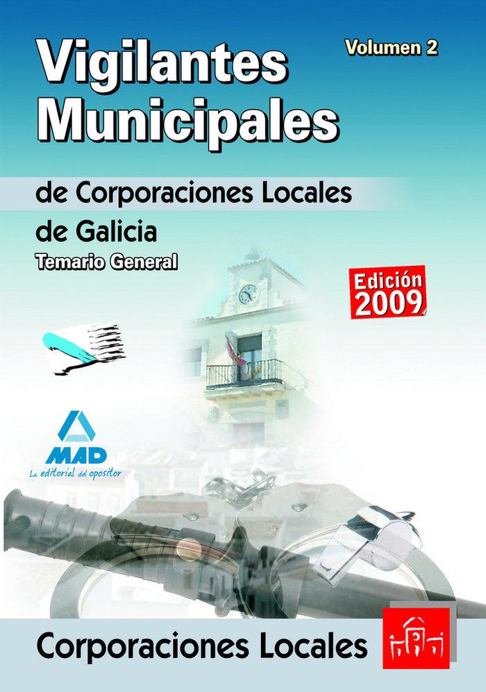 Vigilantes municipales de corporaciones locales de galicia.
