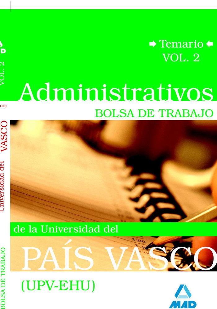 Administrativos de la universidad del pais vasco (upv/ehu).