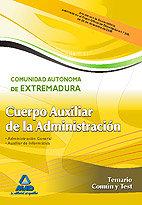 Auxiliar administrativo extrema. temario comun test 2010