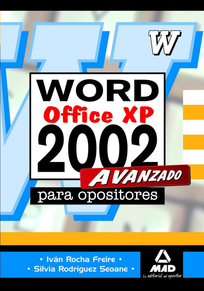 Microsoft word 2002 avanzado para oposiciones