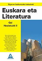 Bigarren hezkuntzako irakasleak. euskara eta literatura. gai