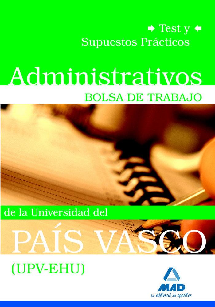 Administrativos, bolsa de trabajo, universidad del pais vasc