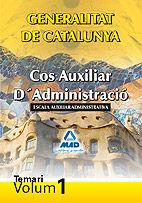 Cos auxiliar d¿administracio de la generalitat de catalunya.