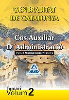 Cos auxiliar administracio de la generalitat de catalunya