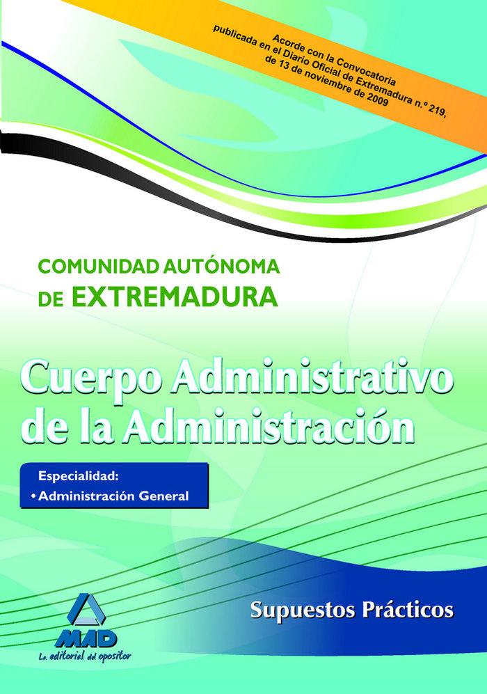 Cuerpo administrativo c.extremadura supuestos practicos