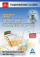Auxiliares administrativos de corporaciones locales del pais