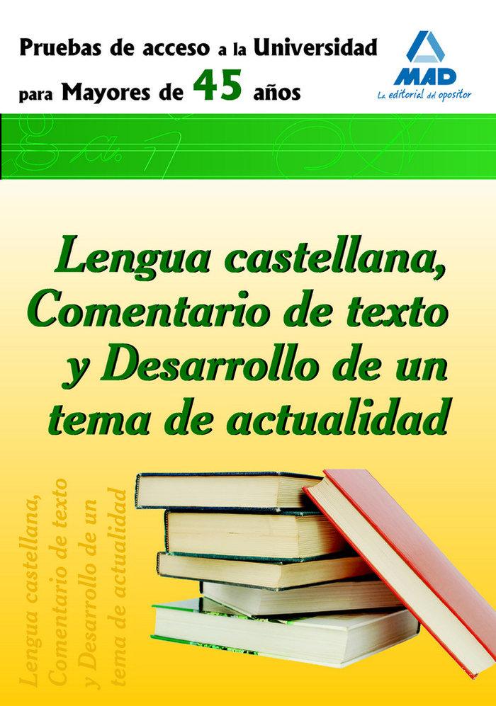 Lengua castellana prueba acceso universidad para mayores