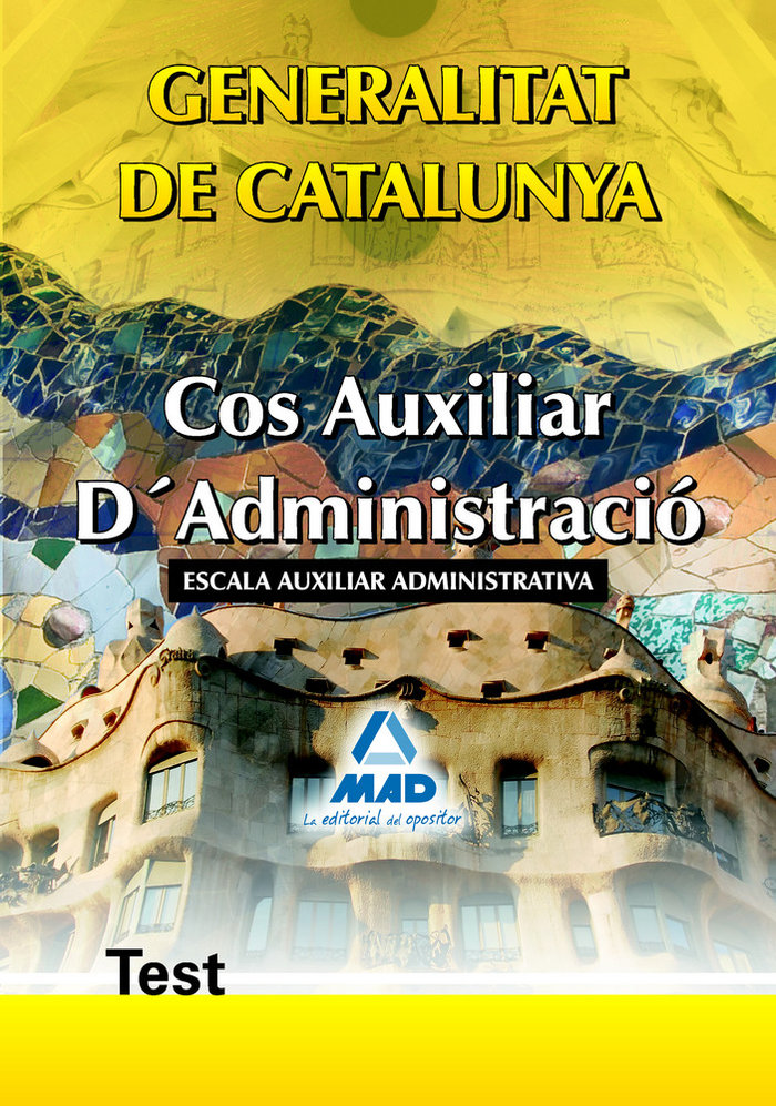 Cos auxiliar d'administracio, escala auxiliar administrativa