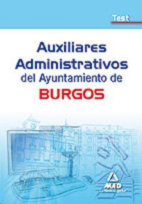 Auxiliares administrativos, ayuntamiento de burgos. test
