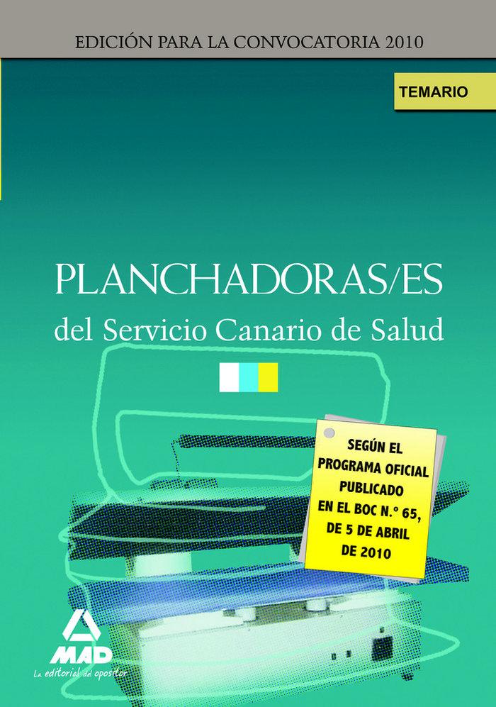 Planchadoras-es, servicio canario de salud. temario