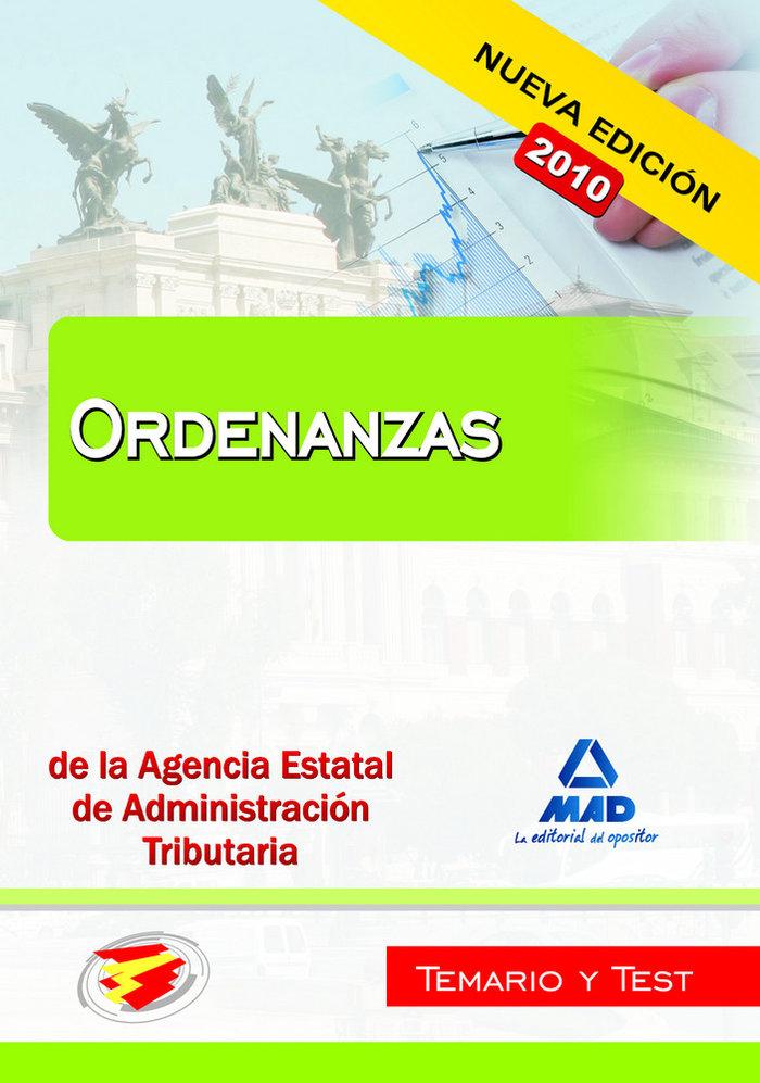 Ordenanzas agencia estatal aad. tributaria temario y test
