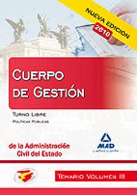 Cuerpo de gestion de la administracion civil del estado. tem