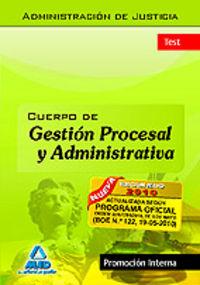 Cuerpo de gestion procesal y administrativa, promocion inter