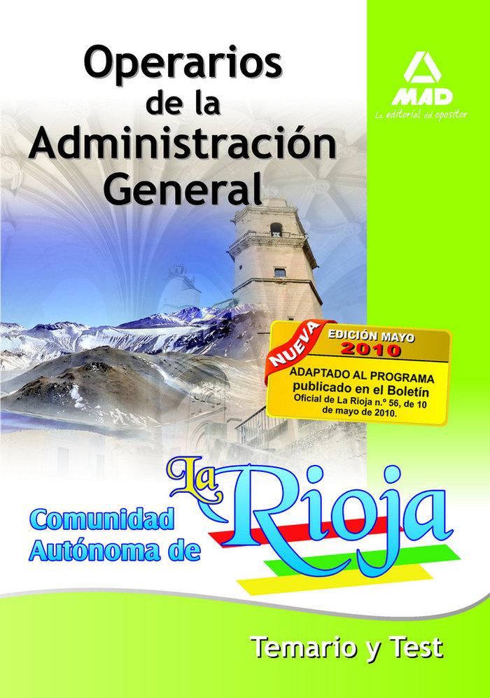 Operarios de la administracion general, comunidad autonoma d