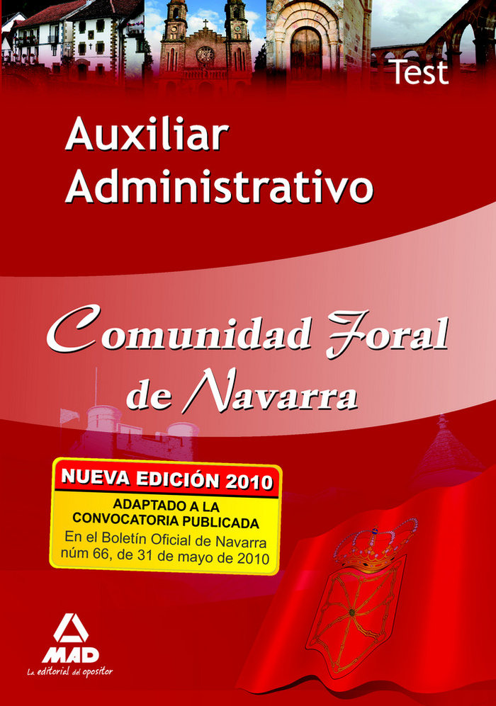 Auxiliar administrativo comunidad foral de navarra. test