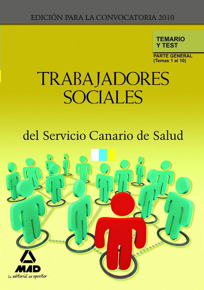 Trabajadores sociales, servicio canario de salud. temario y