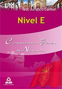 Nivel e, comunidad foral de navarra. test juridico comun