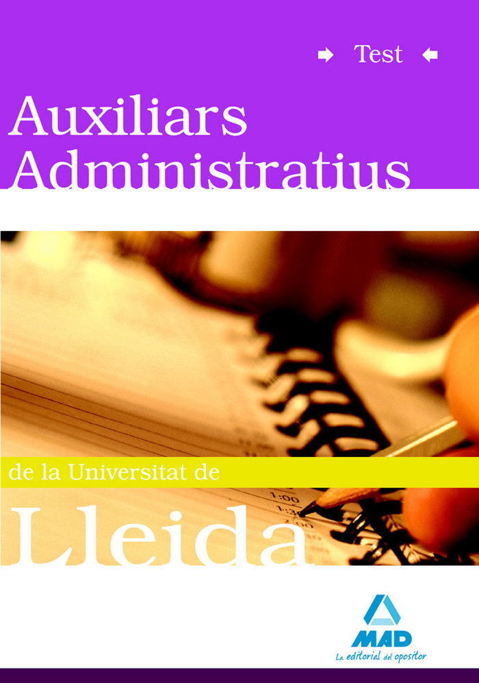 Auxiliars administratius universitat de lleida test